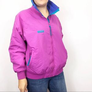 VINTAGE COLUMBIA | Magenta Funky Winter Jacket LG
